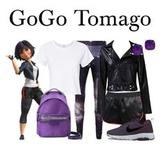 """GoGo Tomago"" by megan-vanwinkle ❤ liked on Polyvore featuring Taya, RE/DONE, NIKE, STELLA McCARTNEY, Effy Jewelry, disney, polyvoreeditorial and fall2017"