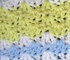 simple but pretty baby blanket pattern