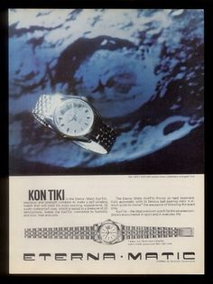 1965 Eterna Matic Kon Tiki Kontiki Watch Color Photo Vintage Print Ad | eBay