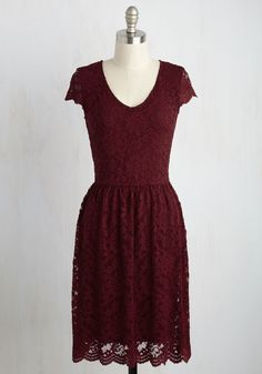Pretty Policy Dress in Merlot, #ModCloth