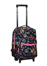 Backpack Rolling Rockland School Bag Carry On 17 in Bookbag Peace Roadster Girls