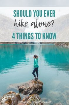 Here are 4 things you must know if you ever plan to hike alone. Many people have adviced against hiking solo, and as someone who has done all kinds of solo hikes - day hikes, overnight hikes, multi-day hikes and even night hikes, here are my suggestions for you if you want to do the same. #Solo Backpacking Checklist, Solo Travel Tips, In Patagonia, Best Hikes, Day Hike, Where To Go, Trekking, State Parks, Traveling By Yourself
