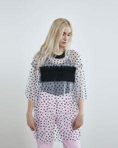 Somewhere Nowhere Black Heart Mesh Ruffle T-shirt Dress