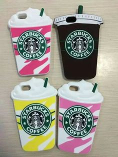 Starbucks cases! I think these are rubber.