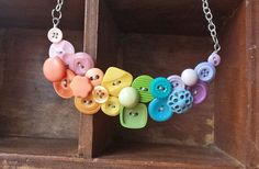 #buttons necklace #collier de boutons