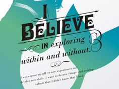 Presidium:  I believe in exploring within and without