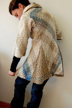 Abrigo de lana del Diseño Único Flecked porción Ullvuna en Etsy