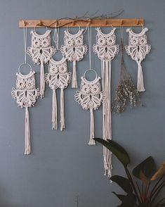 Best 12 Macrame OWL pendant / necklace OWL / macrame OWL – SkillOfKing.Com