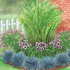 Corner Grass Garden Garden- something like this in corner spot on side of house