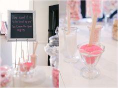 Wedding Reception Ice Cream Bar #Pink