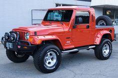 2006 Orange Jeep Wrangler Unlimited