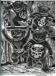 """The Terror Bears"" by Kevin Eastman & Peter Laird  from 'Teenage Mutant Ninja Turtles & Other Strangeness' by Erik Wujcik (( 1985 )) by tOkK..."