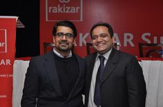"Mr. Muhammad Javed Iqbal Rakizar, CEO & Founder, RAKIZAR with Mr. Zeeshan Lakhpaty, CEO, People Excellence, Corporate Trainer/ International Speaker) at RAKIZAR Summit on ""Entrepreneurs & Business Leaders"" on Thursday, January 24, 2013 at Royal Palm Golf & Country Club, Lahore"
