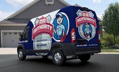 HVAC truck wrap design for this Alabama-based HVAC company. The best HVAC truck… Van Design, Logo Design, Graphic Design, Eco Friendly Cars, Van Wrap, Vans Logo, Lifted Ford Trucks, Car Ford, Cool Trucks