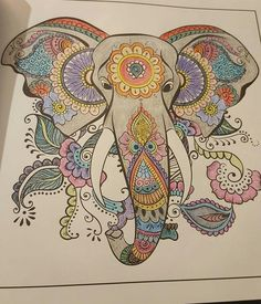Amazon Adult Coloring Books A Book For Adults Featuring Mandalas And Paisley PatternAdult ColoringColoring BooksHennaElephant