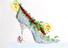 Shoe art with something for everyone designs include the Hot Boogy shoe, Masked Ball, Puss on Boots and many others. Fashion Illustration Shoes, Illustrations, Illustration Art, Flower Shoes, Christmas Lanterns, Colouring Pics, Art Impressions, Shoe Art, Painted Shoes