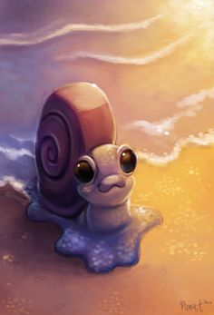 DAY 13. Sea Snail (40 Minutes) by Cryptid-Creations.deviantart.com on @deviantART