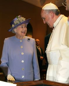 Pope Francis with Queen Elizabeth