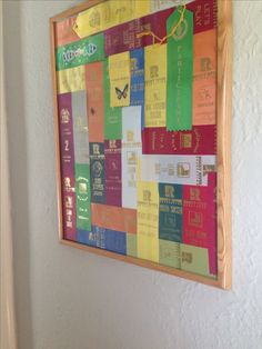What to so with all those sports and participant ribbons. Award Ribbon Display, Award Display, Display Ideas, Ribbon Quilt, Ribbon Art, Swim Ribbons, Hanging Medals, Horse Show Ribbons, Trophies And Medals