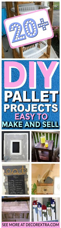 Easy Pallet Projects and Crafts To Make and Sell, Cool Pallet Tables, Cheap DIY Ideas, Craft Projects You Can Sell On Etsy, Wooden Pallet Ideas Made Easy With Step by Step Tutorials - Quick DIY Projects and Crafts http://decorextra.com/diy-pallet-projects-easy-to-make-and-sell/