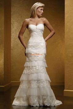 Salle intérieure Tulle Dentelle Robes de mariée de luxe