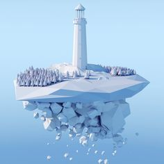 Low Poly Lighthouse   SerialThriller™