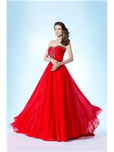 Fancy Strapless Beading Sweetheart A-Line Evening/Prom Dress Evening Dresses 2014- ericdress.com 10769874