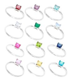 Makayla--wants sapphire jewelry--Sterling Silver Children's Birthstone Ring and Earrings Set | eBay