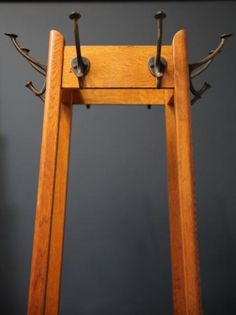 1920s Coat Stand, Antique Cabinets & Storage, Drew Pritchard Hall Stand, Coat Stands, Mud Rooms, Antique Cabinets, Storage Cabinets, Hallways, 1920s, Ladder Decor, Drawer