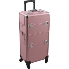 Hiker Rolling Makeup Case with Easy-Slide and Extendable Trays, Includes Removable Tray and Extra Lid, Smooth Texture, Pink >>> Read more at the image link. (This is an affiliate link) Makeup Suitcase, Travel Makeup, Rolling Makeup Case, Makeup Training, Thing 1, Train Case, Cosmetic Case, Beauty Shop, Baby Car Seats