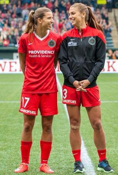 Tobin Heath Alex Morgan Portland Thorns  I could watch these two play soccer all day every day and I would never get tired of it!
