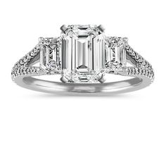 Check this round cut moissanite engagement ring. The promise ring features a breathtaking leaves motif. A large round cut forever one moissanite sits atop in all its splendid glory. This is a white gold moissanite wedding band that will age magnificently Emerald Cut Diamond Engagement Ring, Emerald Cut Diamonds, Diamond Cuts, Vintage Diamond Wedding Bands, White Gold Wedding Bands, Wedding Rings, Classic Engagement Rings, Halo 2, Infinity Wedding