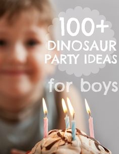 More than 100 dinosaur birthday party ideas . Oh good as he is having a Dino party. Dinosaur Birthday Party, 4th Birthday Parties, Birthday Fun, Birthday Ideas, Festa Party, Childrens Party, Party Ideas, Birthdays, August James