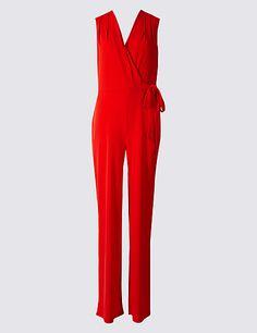 8188f1669828 M s Collection Wide Leg Tie Detail Jumpsuit Summer Outfits Women