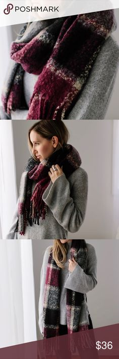 🆕Park Ave Lux Scarf If you are looking for the most luxurious and plush scarf, this is it 💗 Exquisite deep mauve color with gray, black, and white check. Super SOFT fuzzy material and not itchy. Large size, will keep you warm. 100% acrylic. Handpicked by me at a showroom in Manhattan, I chose this for its incredible quality. Stunning, no other way to put it. New. 11thstreet Accessories Scarves & Wraps