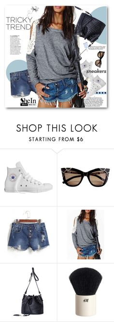 """""""Sneakers"""" by svijetlana ❤ liked on Polyvore featuring Converse, H&M, Essie, TrickyTrend, sneakers and polyvoreeditorial"""
