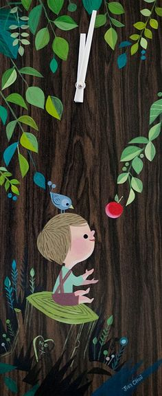 Joey Chou: The Giving Tree clock