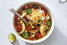 Set it and forget it. Perfect for busy weeknights, these one-pot superstars make getting dinner on the table a fuss-free affair.Slow-Cooker Chicken Taco SoupFor this intensely flavorful soup, all you … Slow Cooker Soup, Slow Cooker Recipes, Soup Recipes, Dinner Recipes, Crockpot Recipes, Chicken Recipes, Dinner Ideas, Chili Recipes, Free Recipes