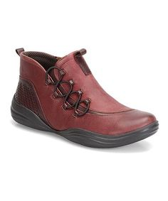 This Red Santiago Leather Ankle Boot is perfect! #zulilyfinds