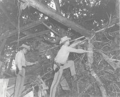 Highway Patrol troopers assessing damage after the Wichita Falls tornado in April 1979.