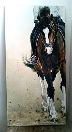 Friend 120x60 Oil painting made by Sabien Delhez (NL)