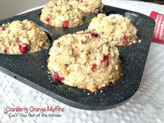 These lovely muffins have super humongous muffin tops and are incredibly festive and beautiful. Filled with cranberries, orange juice and zest and pecans, with a delightful streusel and orange glaze, they make an amazing holiday breakfast. Cranberry Fruit, Cranberry Orange Muffins, Blueberry Bread, Blueberry Cupcakes, Take A Meal, Lemon Frosting, Baking Muffins, Streusel Topping, Pastry Blender