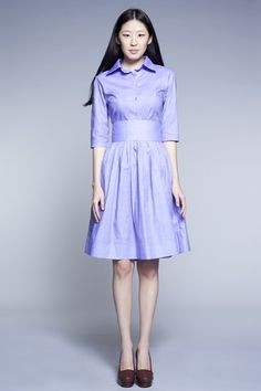 Custom Made Shirtwaist Cotton Dress by Mrs.Pomeranz por mrspomeranz, £261.00