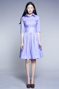 Custom Made Shirtwaist Cotton Dress by Mrs.Pomeranz (XXS-1X). £261.00, via Etsy.