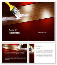 Painting Wood Floor PowerPoint Template http://www.poweredtemplate.com/11173/0/index.html