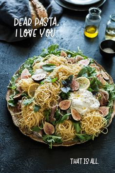 Prosciutto Fig and Burrata Pasta — Cheeky Kitchen Pasta Recipes, Dinner Recipes, Cheese Recipes, Easy Summer Meals, Summer Recipes, Prosciutto Crudo, Paleo Pizza, Pasta Soup, Dinner Menu