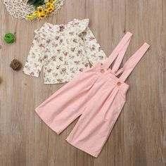 Toddler Kids Baby Girl Winter Clothes Floral Tops+Pants Overall Outfits sweet girl clothes set Winter Outfits For Girls, Kids Outfits, Baby Girl Winter, Winter Tops, 2 Piece Outfits, Girl Falling, Toddler Fashion, Sweet Girls, Outfit Sets