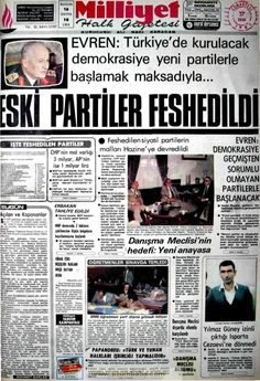 Milliyet gazetesi 17 ekim 1981 Newspaper Headlines, Old Newspaper, Turkey History, Newspaper Archives, Whirlpool Galaxy, Andromeda Galaxy, Once Upon A Time, Nostalgia, Astronomy