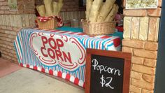 Old School Popcorn Stand School Fair, Old School, Popcorn Stand, Pop Cans, Lemonade, Toy Chest, Toys, Home Decor, Popcorn Cart