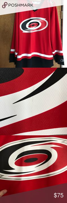 Carolina Hurricanes Vintage official jersey NHL Hockey jersey. Small mark in Canes logo that Can probably be treated and cleared off Reebok Shirts